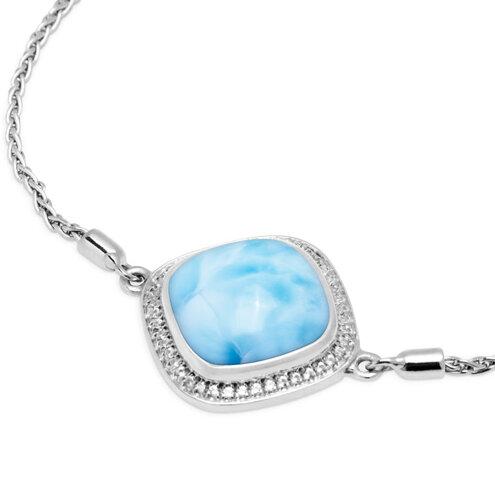 Clarity Cushion Larimar Bracelet