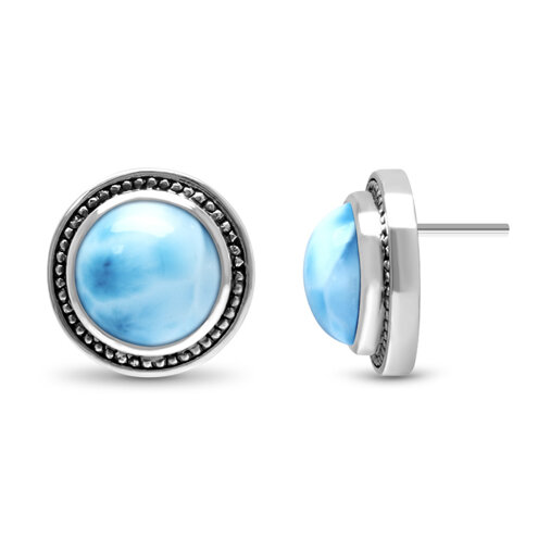 Stud Larimar Earrings