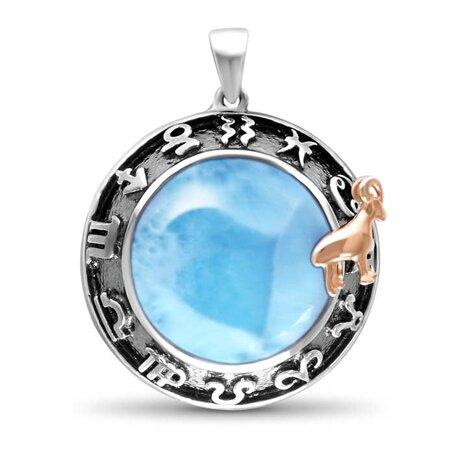 marahlago larimar Aries Necklace jewelry