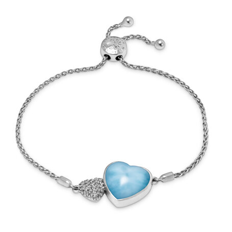 marahlago larimar Sapphire Heart Bracelet jewelry