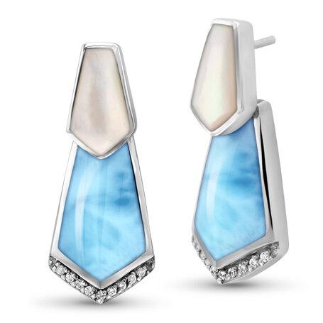 marahlago larimar Calder Larimar Earrings jewelry