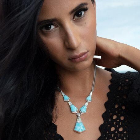 marahlago larimar Calder Large Larimar Necklace jewelry