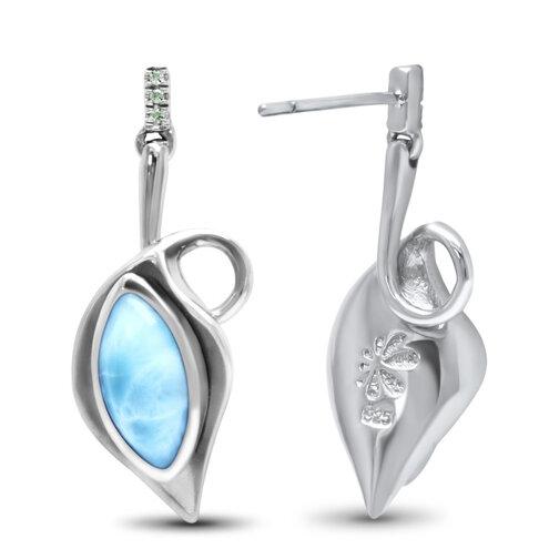 Calla Larimar Earrings