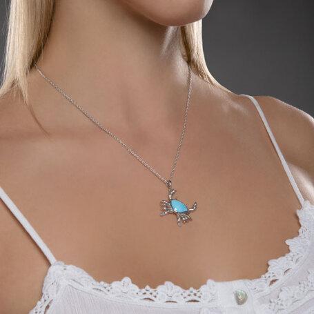 marahlago larimar Crab Larimar Necklace jewelry