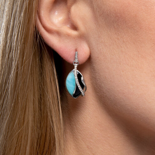 Dakota Larimar Earrings