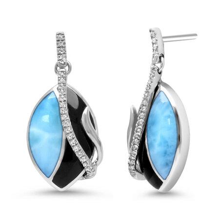 marahlago larimar Dakota Larimar Earrings jewelry