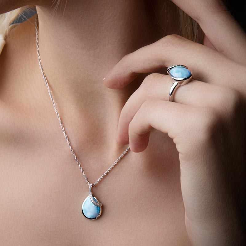 marahlago larimar Daria Larimar Necklace jewelry