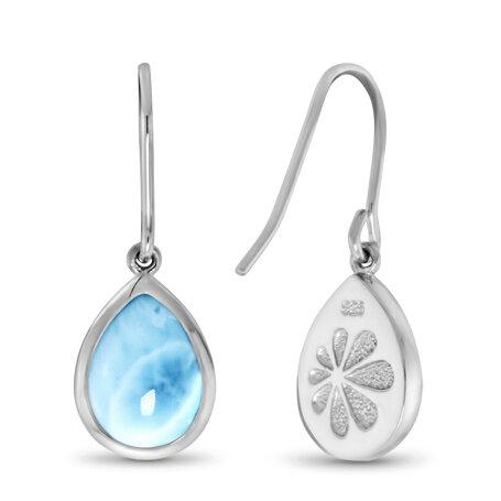 marahlago larimar Pear Dangle Larimar Earrings jewelry
