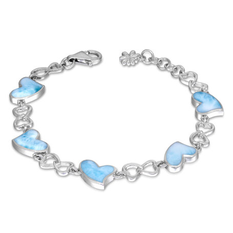 marahlago larimar Floating Heart Larimar Bracelet jewelry
