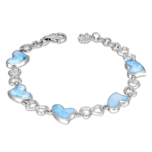 Floating Heart Larimar Bracelet