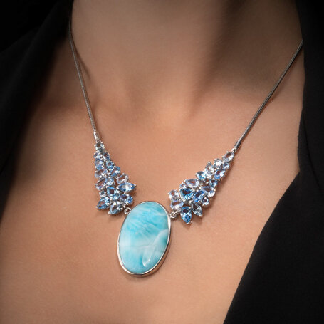 marahlago larimar Grace Larimar Necklace jewelry