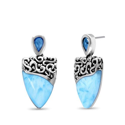 Haven Larimar Earrings