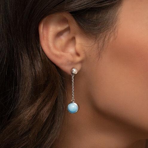 Hideaway Pearl Larimar Earrings