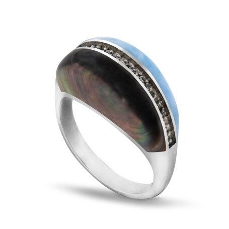 marahlago larimar Horizon Larimar Ring jewelry