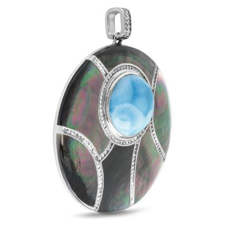 marahlago larimar Laguna Large Pendant jewelry