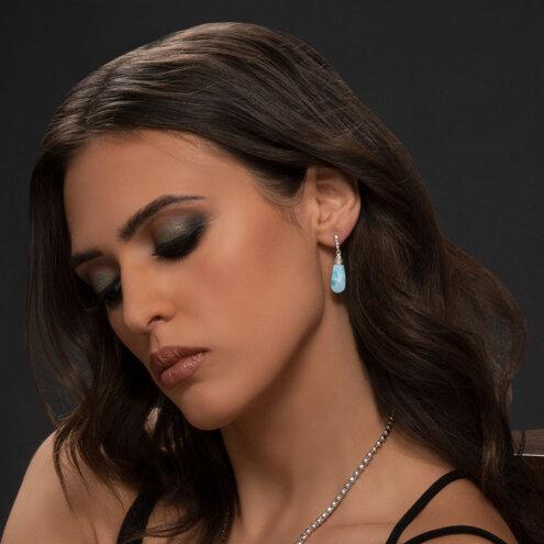 Lucia Larimar Earrings