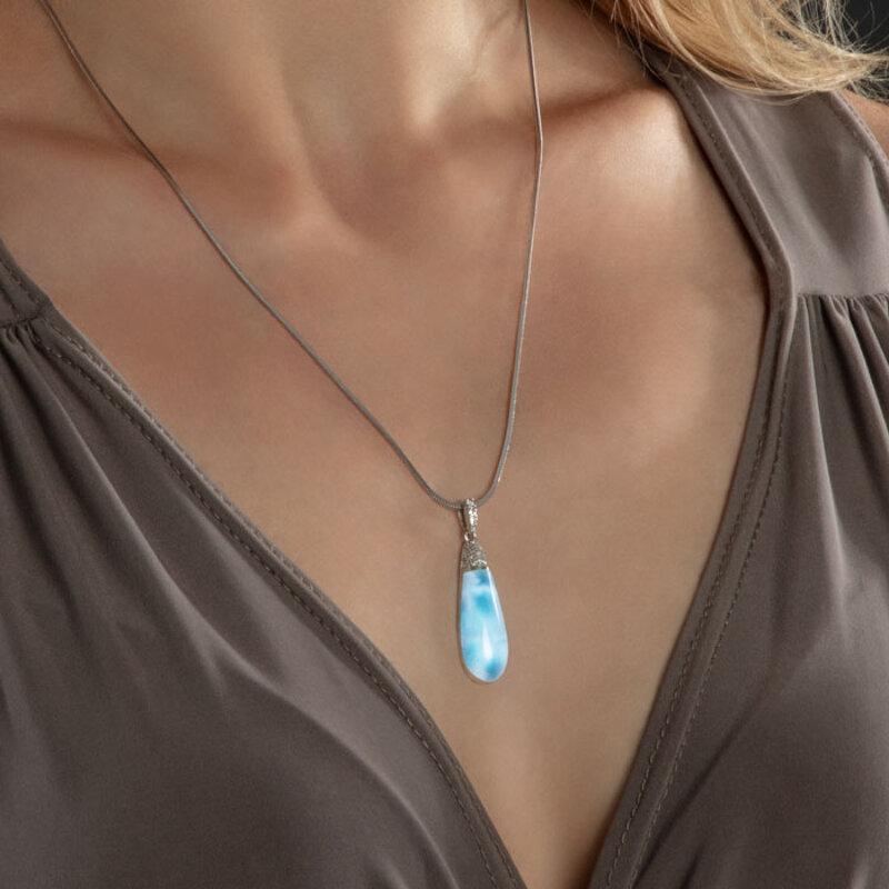 marahlago larimar Lucia Larimar Necklace jewelry