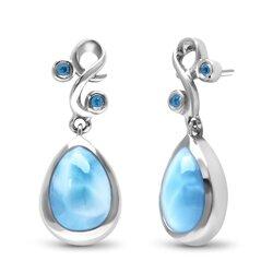 marahlago pear Lyric Larimar Earrings