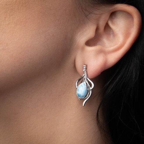 Willow Larimar Earrings