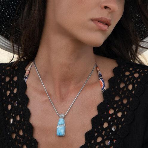 Marina Large Larimar Necklace