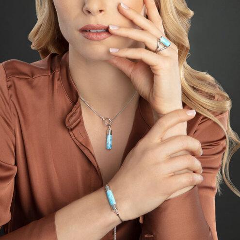 Castaway Larimar Ring