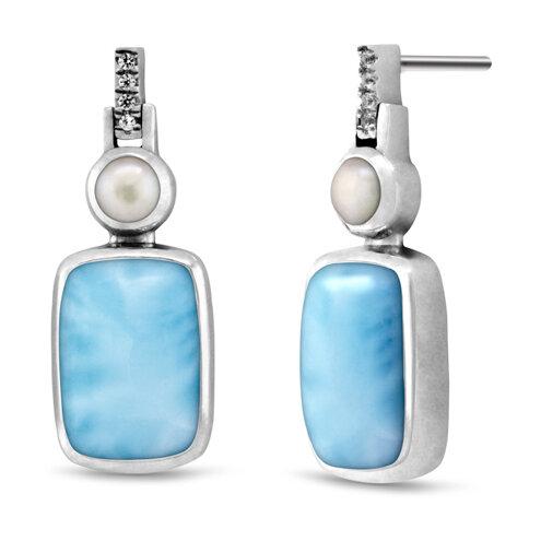 Mirage Larimar Earrings