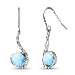 marahlago round Adella Larimar Earrings