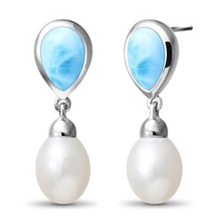 marahlago pear Alisa Larimar Earrings