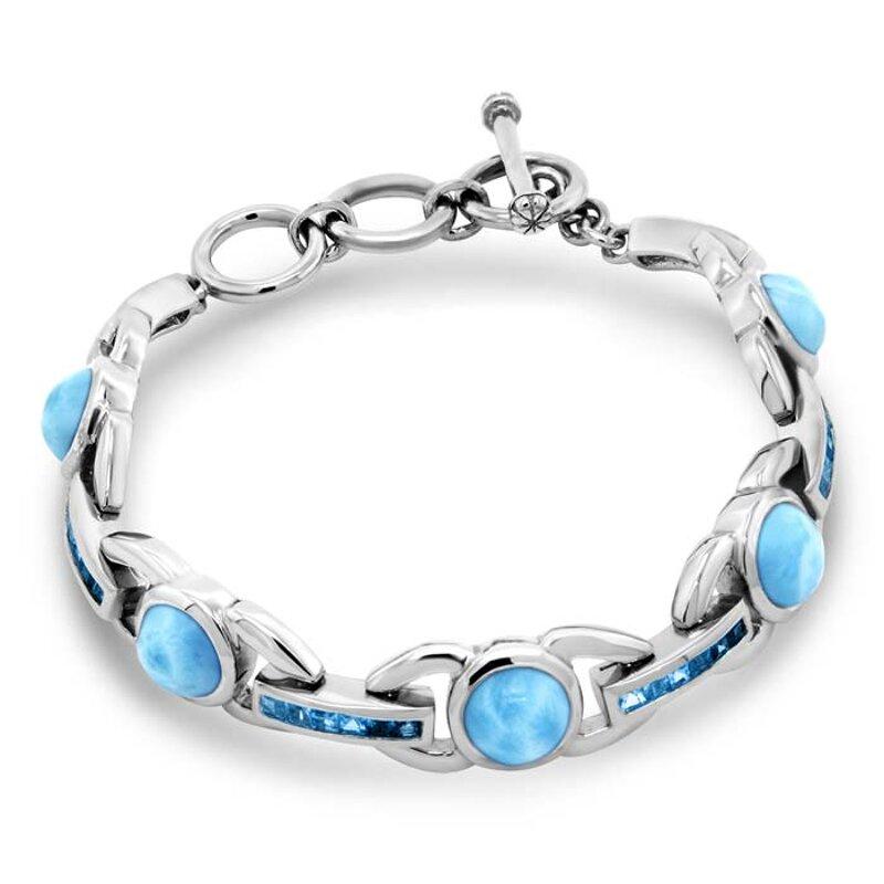 marahlago larimar Aqua Larimar Bracelet jewelry