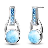 marahlago Aqua Larimar Earrings