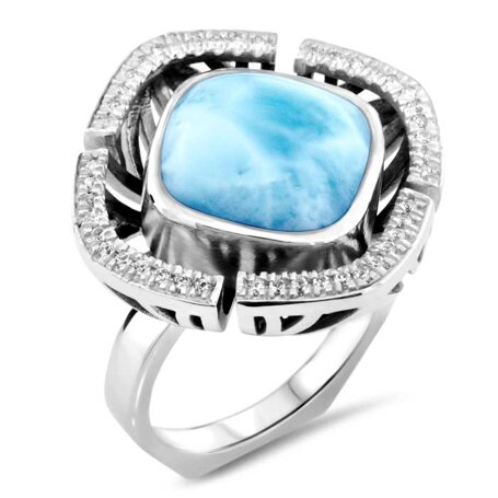 marahlago larimar Aspen Ring jewelry