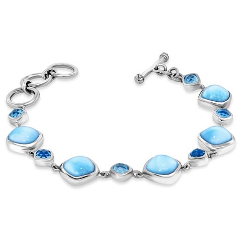 Atlantic Cushion Larimar Bracelet