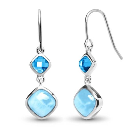 marahlago larimar Atlantic Cushion Larimar Earrings jewelry