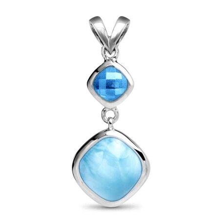 marahlago larimar Atlantic Cushion Larimar Necklace jewelry