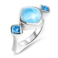 marahlago Atlantic Cushion Larimar Ring