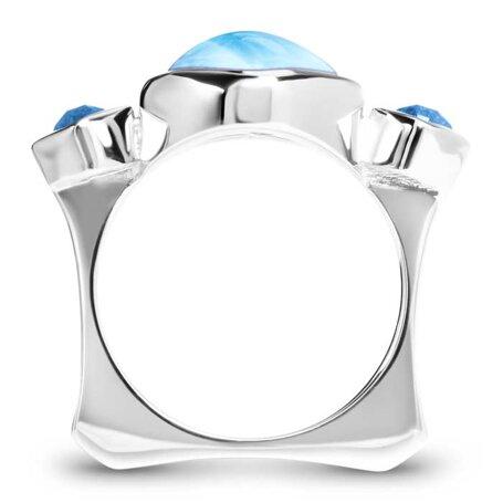 marahlago larimar Atlantic Cushion Larimar Ring jewelry