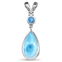 marahlago Atlantic Pear Larimar Necklace