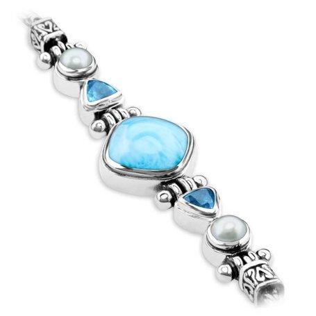 marahlago larimar Azure Cushion Larimar Bracelet jewelry