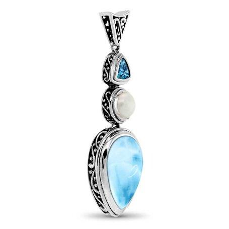 marahlago larimar Azure Pear Larimar Necklace jewelry