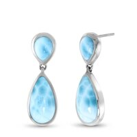 marahlago Double Pear Larimar Earrings