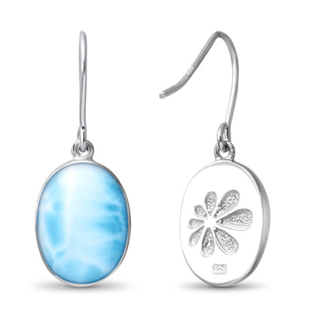 larimar oval dangle earrings back