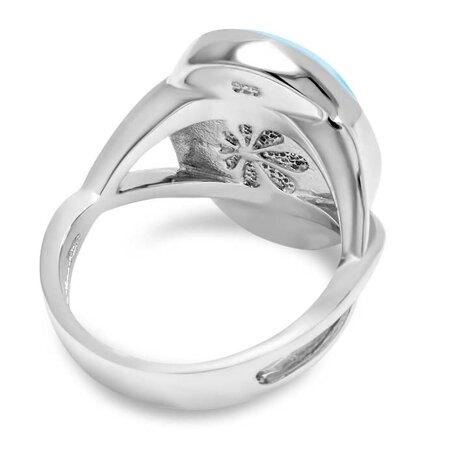 marahlago larimar Oval Larimar Ring jewelry