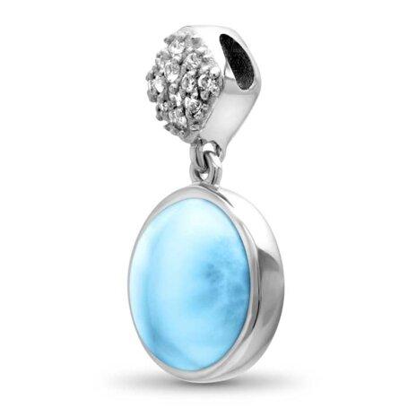 marahlago larimar Bliss Round Larimar Necklace jewelry