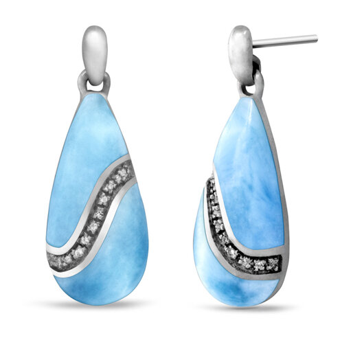 Brook Larimar Earrings