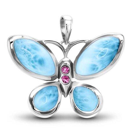 marahlago larimar Butterfly Larimar Necklace jewelry