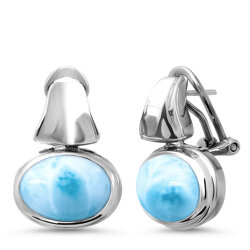 marahlago oval Caressa Larimar Earrings