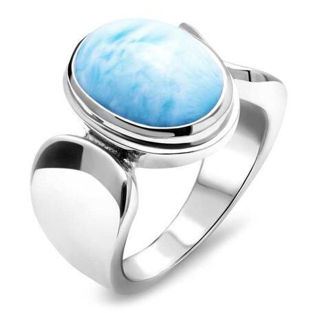 marahlago larimar Caressa Larimar Ring jewelry
