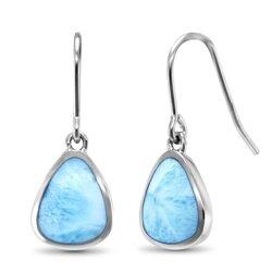 marahlago pear Cheyenne Larimar Earrings