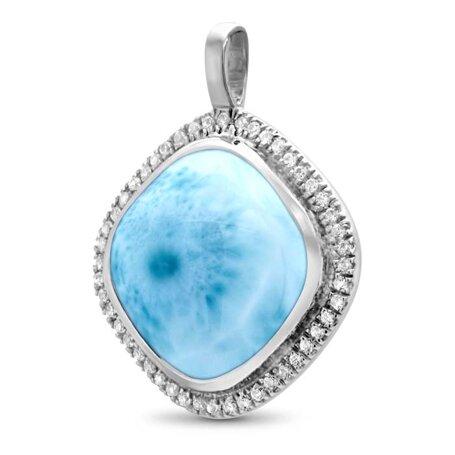 marahlago larimar Clarity Cushion Larimar Necklace jewelry