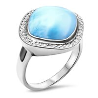 marahlago Clarity Cushion Larimar Ring